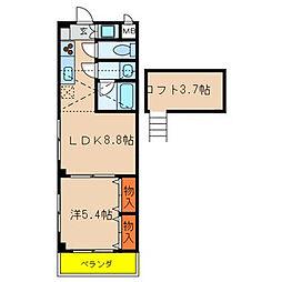 エステート新松戸25[208号室]の間取り