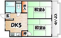 シャトレ松尾I[507号室]の間取り