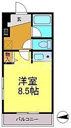 クラージュ474[3B号室]の間取り