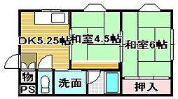 レジデンスパート4[3A号室]の間取り