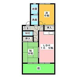 プリモ・ピアーノB棟[1階]の間取り