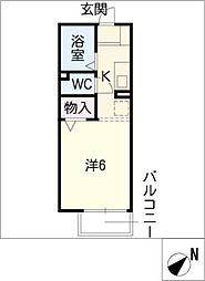 コーポ友とぴあ16[1階]の間取り