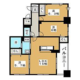 リーベン219[5階]の間取り