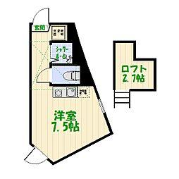 CASA宝町[2階]の間取り