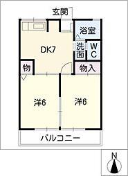 コーポ末広[2階]の間取り