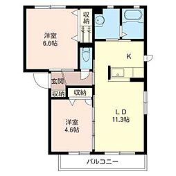 サンモール A[2階]の間取り