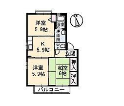 シャーメゾンII番館[1階]の間取り