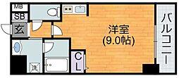 Osaka Metro谷町線 平野駅 徒歩11分の賃貸マンション 3階1Kの間取り