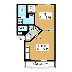 ユートピア15[2階]の間取り