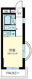 東京都北区赤羽西1丁目の賃貸マンションの間取り