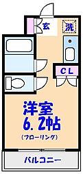 クレセント船橋[303号室]の間取り