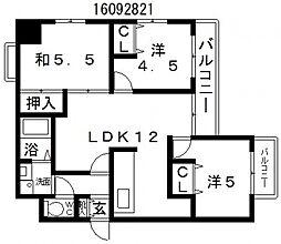 シーズ長居公園[2階]の間取り