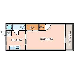 UMマンション[4階]の間取り