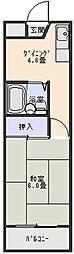 田中ビル[504号室]の間取り