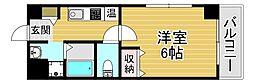 京阪電鉄中之島線 中之島駅 徒歩9分の賃貸マンション 5階1Kの間取り