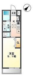 袖ケ浦市代宿97番5他新築アパート[105号室]の間取り