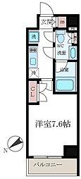 クレストコートTS吾妻橋[6階]の間取り