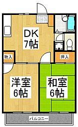 フィールドコーポ[2階]の間取り