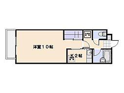 コンフォール井口[105号室]の間取り