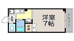 京都府京都市北区平野宮西町の賃貸マンションの間取り