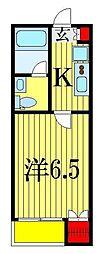 パレスヒル東船橋[2階]の間取り