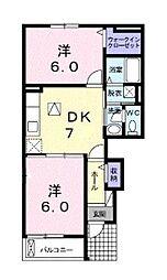 グランツ大和[2階]の間取り