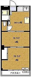 ハナブサマンション[4階]の間取り