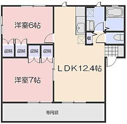 I.MパルクB[2階]の間取り