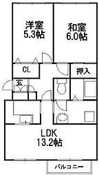 リゾルテ札幌[3階]の間取り