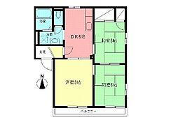 ドミール茅ヶ崎[2階]の間取り