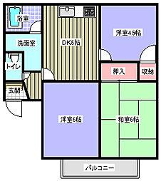 長崎県大村市小路口町の賃貸アパートの間取り