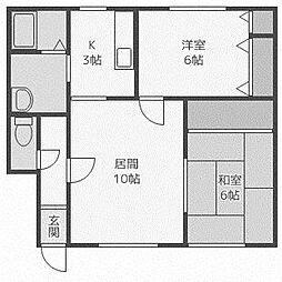 大晃ハウス[2階]の間取り