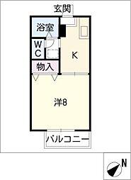 愛知県小牧市常普請3丁目の賃貸アパートの間取り