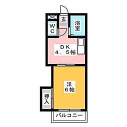 エクセレント筥松[3階]の間取り