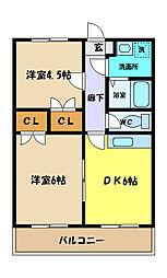 埼玉県さいたま市桜区大字宿の賃貸アパートの間取り