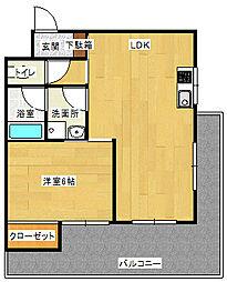 三田ハイツスギタ[4階]の間取り