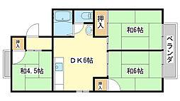 パレーシャル田寺[B201号室]の間取り