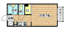 ハイツサニーコート[1階]の間取り