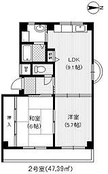 ローゼハイム[3階]の間取り