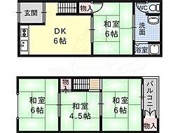 高見ノ里駅 4.5万円