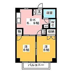サンハイツKONDO[2階]の間取り