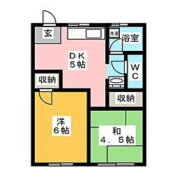 青雲荘[2階]の間取り