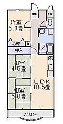 R-COURT YAMASHIRO[5階]の間取り