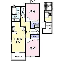 セレーノ並木弐番館[2階]の間取り