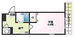 コボックス太子橋[6階]の間取り