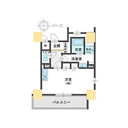 レジェンドール大阪天満Gレジデンス[8階]の間取り