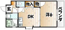 メゾンドベル[2階]の間取り