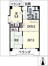 マンション・ハルカ[7階]の間取り