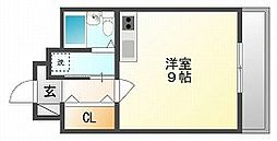 岡山県岡山市北区平野の賃貸マンションの間取り