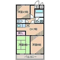 日吉A−1[3階]の間取り